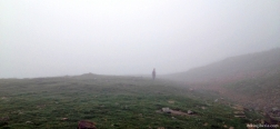 Near Aspe in the mist