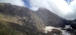 Perennial snow of Neveros de Aspe