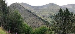 Aussicht auf dem Abstieg vom Collado de Conflent