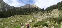 Aufstieg zur Berghütte von Ulldeter
