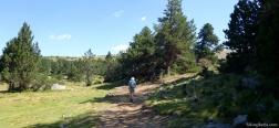 Pfad in der Nähe der Berghütte von la Balmeta