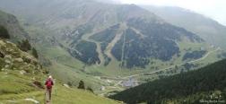 Abstieg zum Tal von Núria