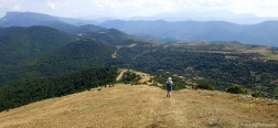 Afdaling vanaf de Pico Oturia