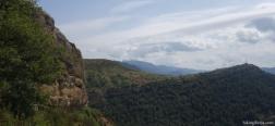 Uitzicht tijdens de klim naar de Ermita de la Cruz