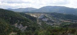 Uitzicht op de afdaling naar Yebra de Basa