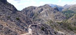 Afdaling vanaf El Lucero