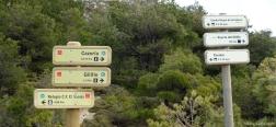Señales en la Loma de los Castellones
