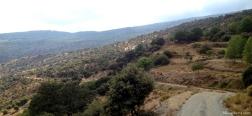 Weg naar de stuwdam van La Murilla
