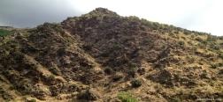 Uitzicht op terugweg naar El Nacimiento