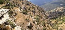 Uitzicht vanaf het pad naar de Aguadero