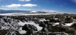 Winters landschap vlakbij de Reajos