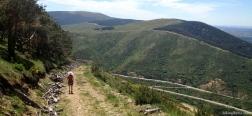 Pad op de weg terug naar Somosierra