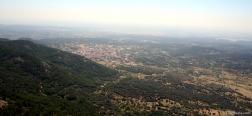 Uitzicht op de vallei van Cenicientos