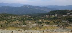 Uitzicht op het pad naar de Alto de la Laguna