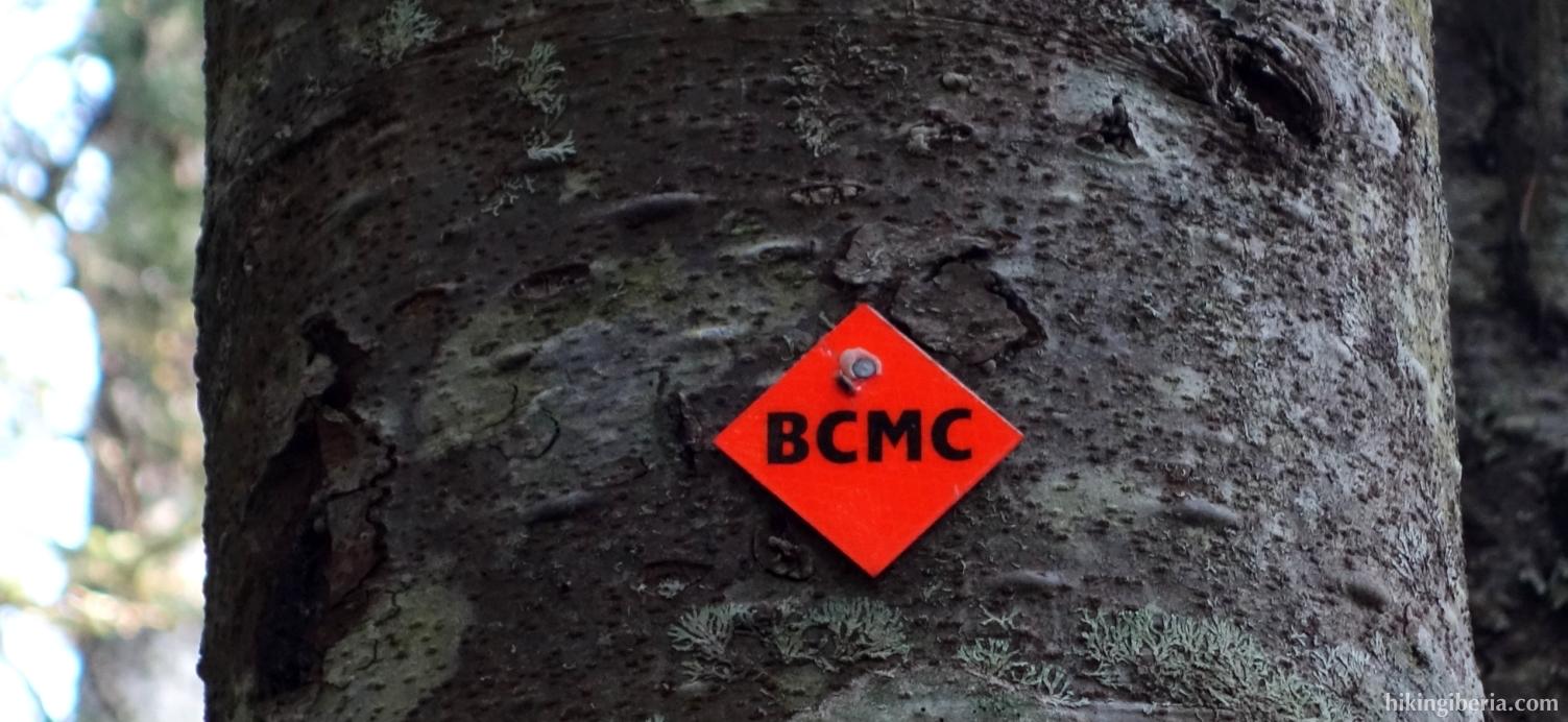 Bord aan het begin van de BCMC Trail