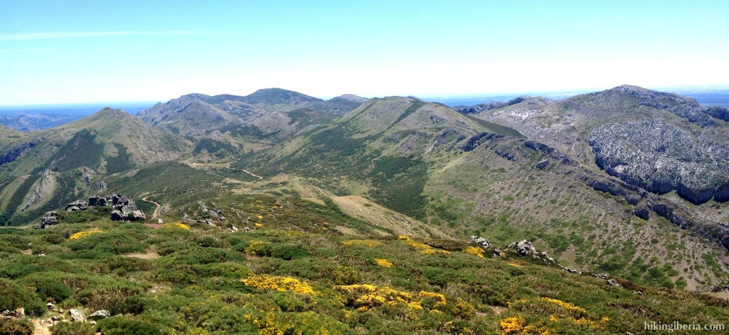 Uitzicht vanaf de Cerro Pedroso
