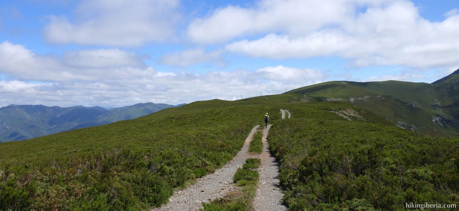 Pad richting de Alto del Laderón