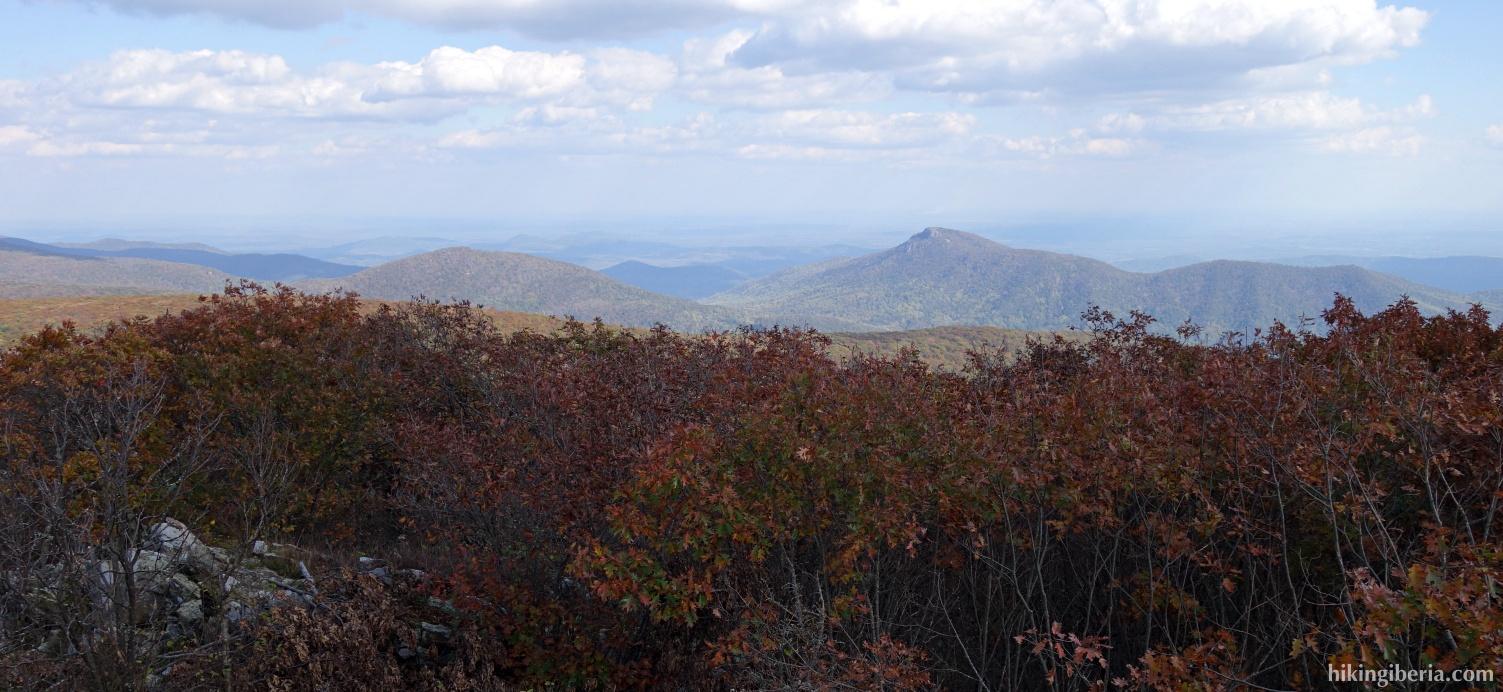 Uitzicht vanaf de Hawksbill Summit
