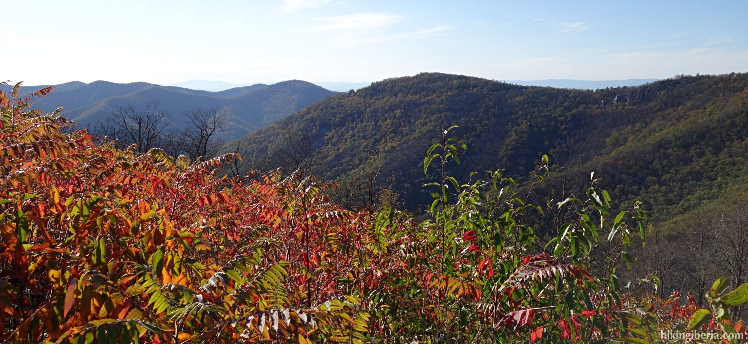 Aussicht ab dem Brown Mountain Overlook
