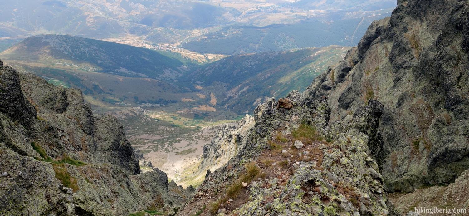 Vista durante la ascensión a Curavacas