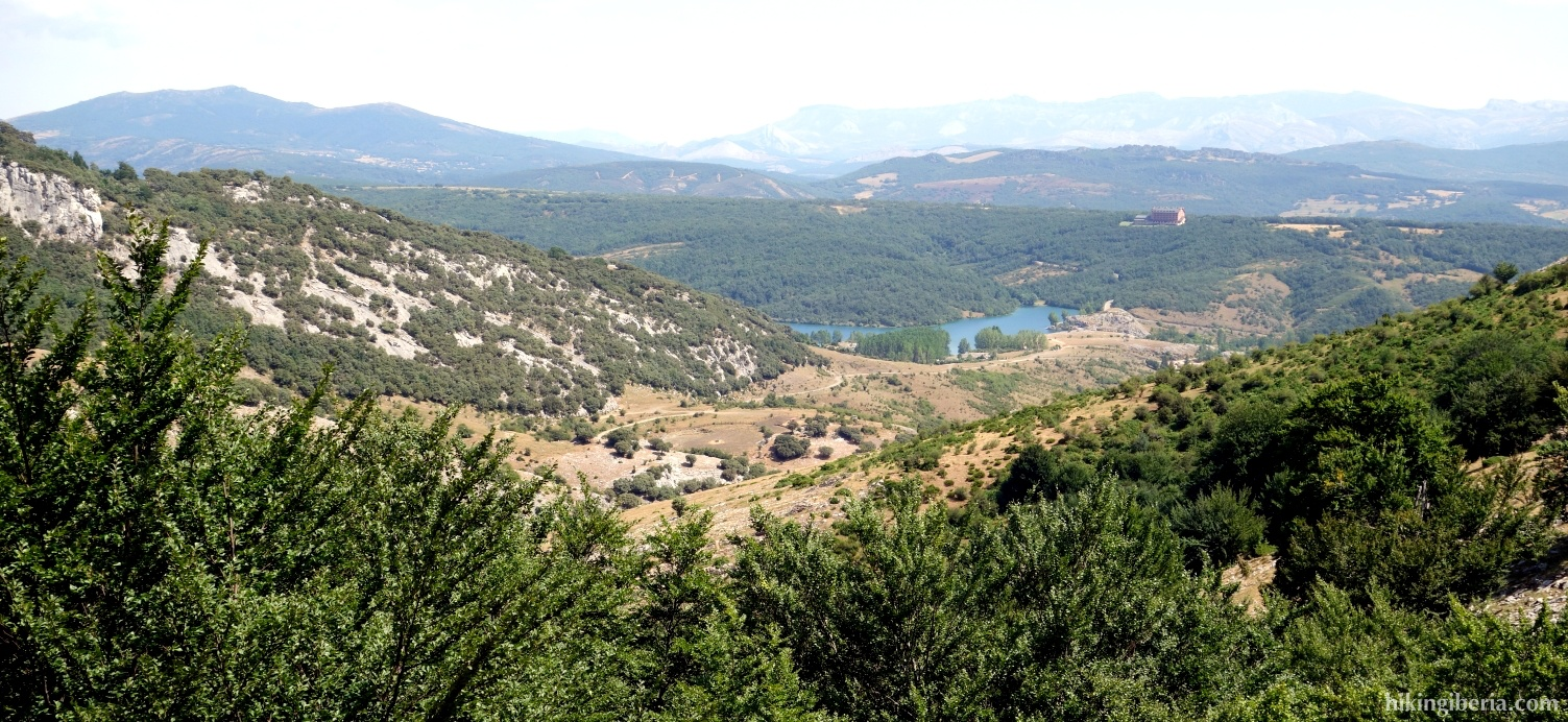 View over the Reservoir of Cervera-Ruesga