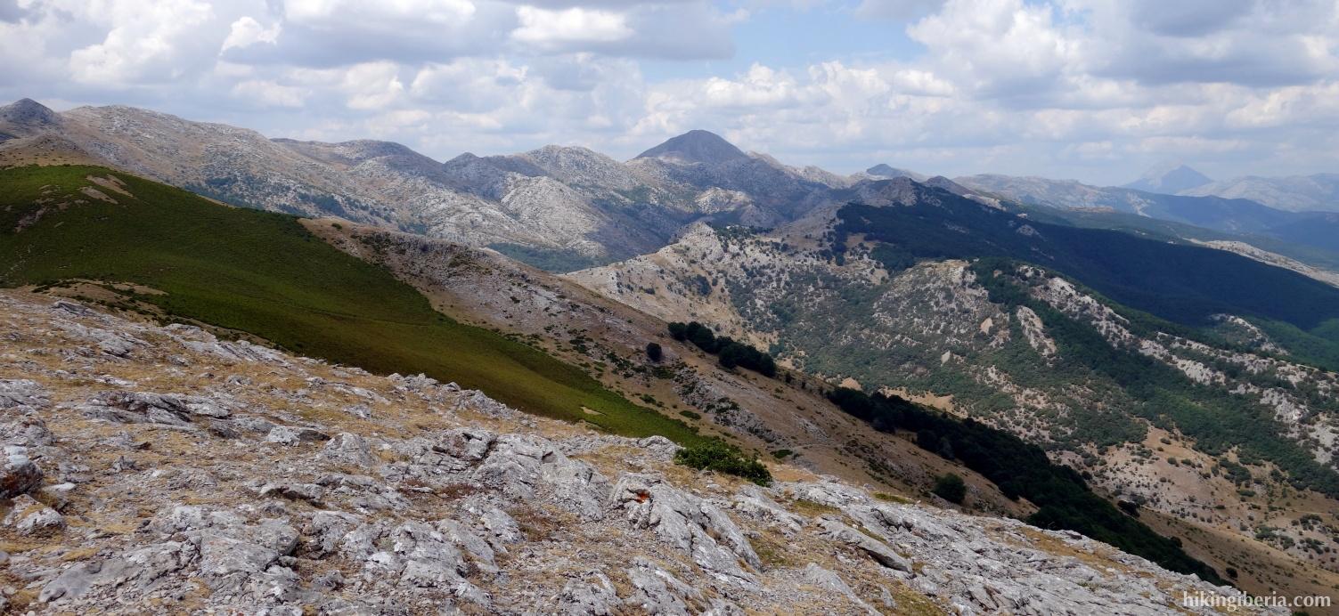 Uitzicht vanaf de Pico Almonga