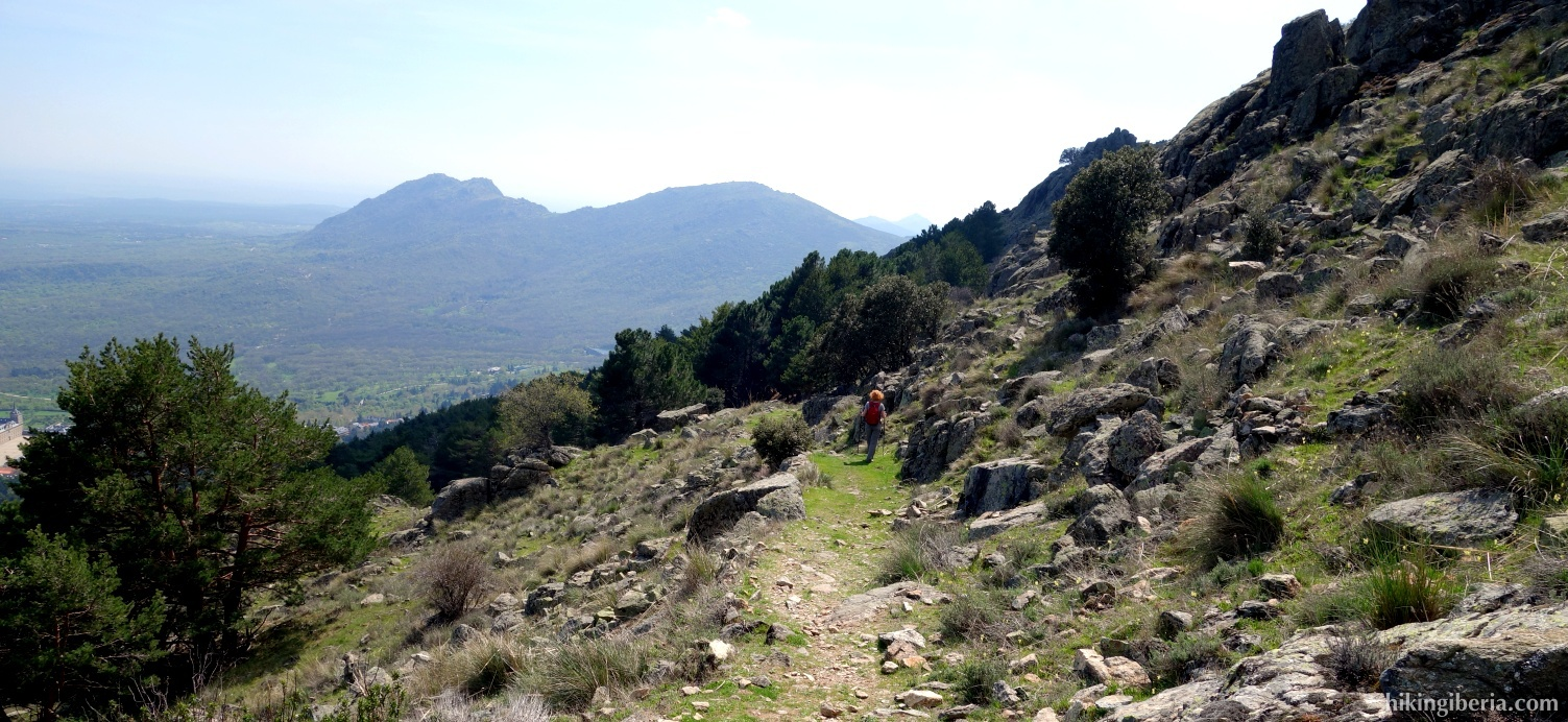 Descenso hasta El Escorial