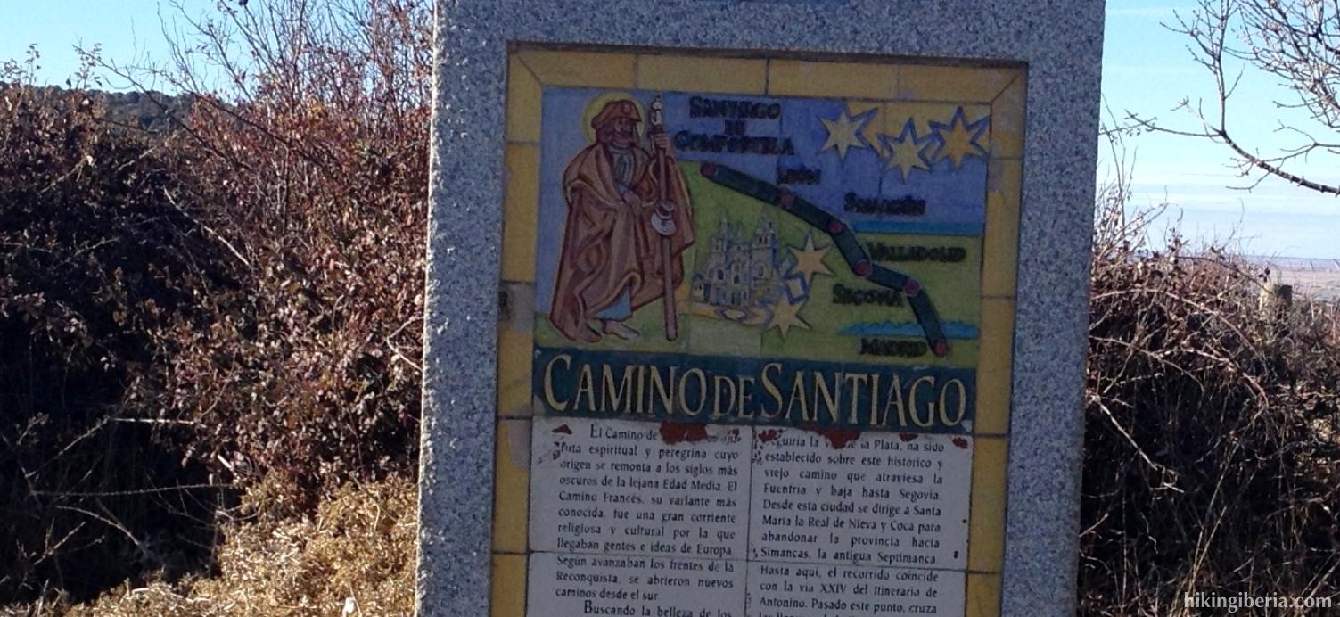 Signpost of the Camino de Santiago