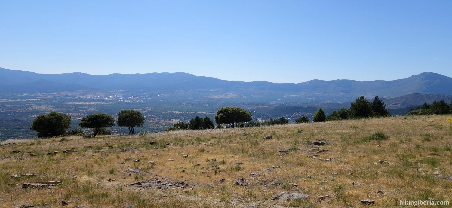 Uitzicht vanaf de Cabeza Mediana