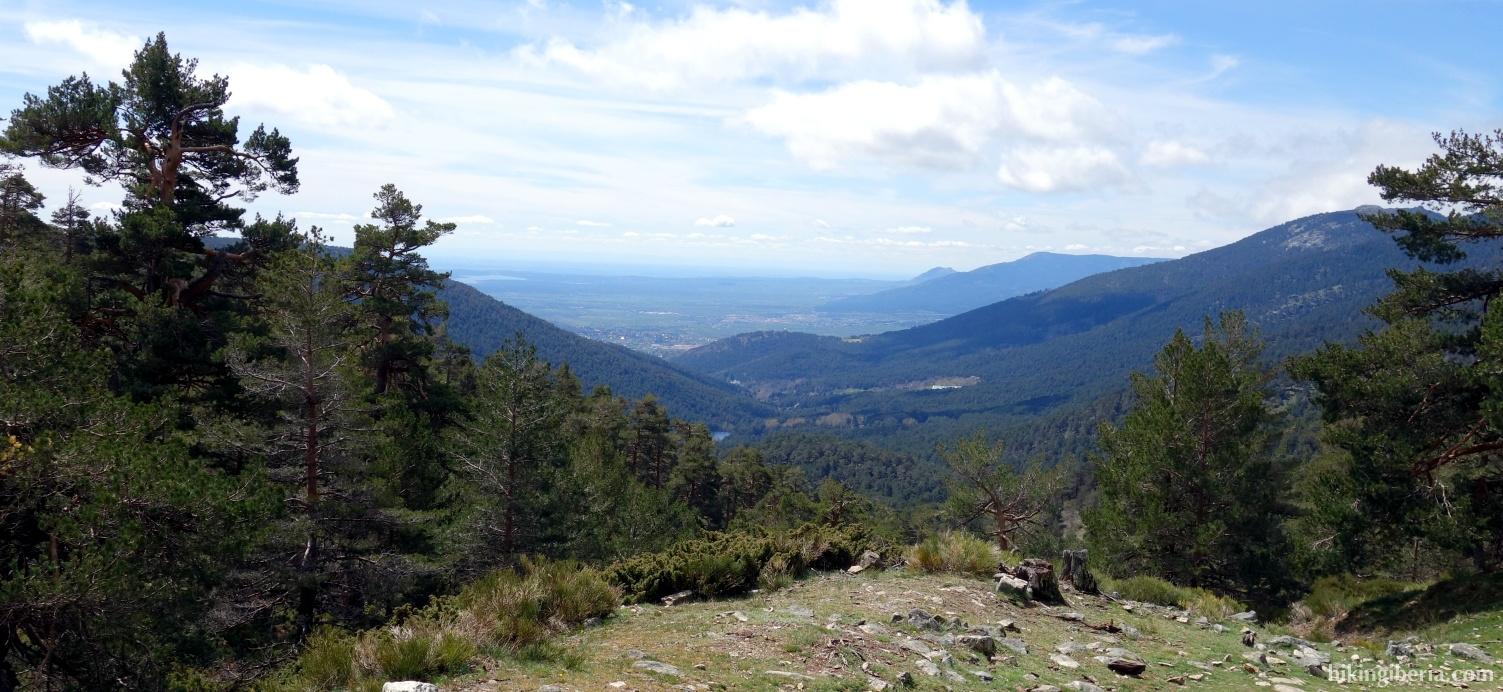 Aussicht über das Tal von La Fuenfría