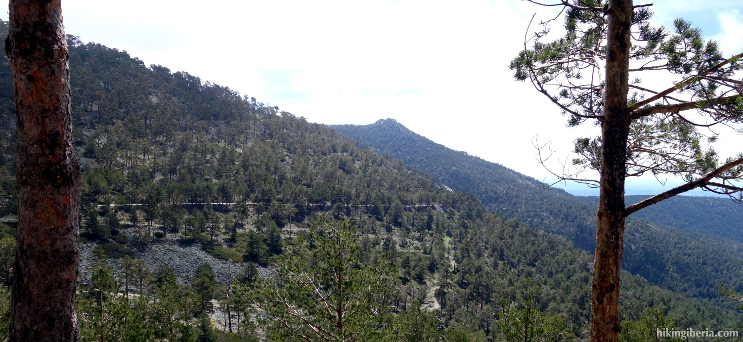 View over the valley of La Fuenfría