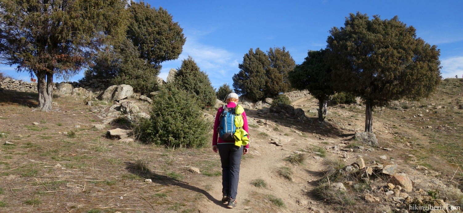 Pad vlakbij de Alto del Mojón