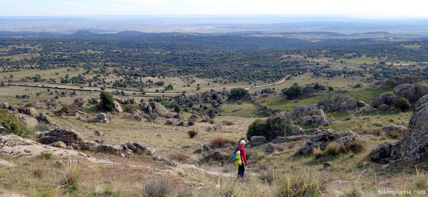 Abstieg vom Cerro de San Pedro