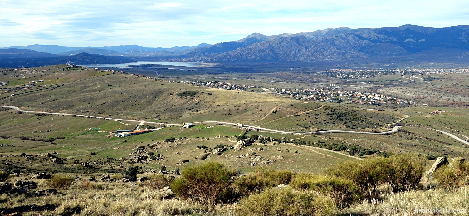 Vista sobre el Embalse de Santillana y Soto el Real