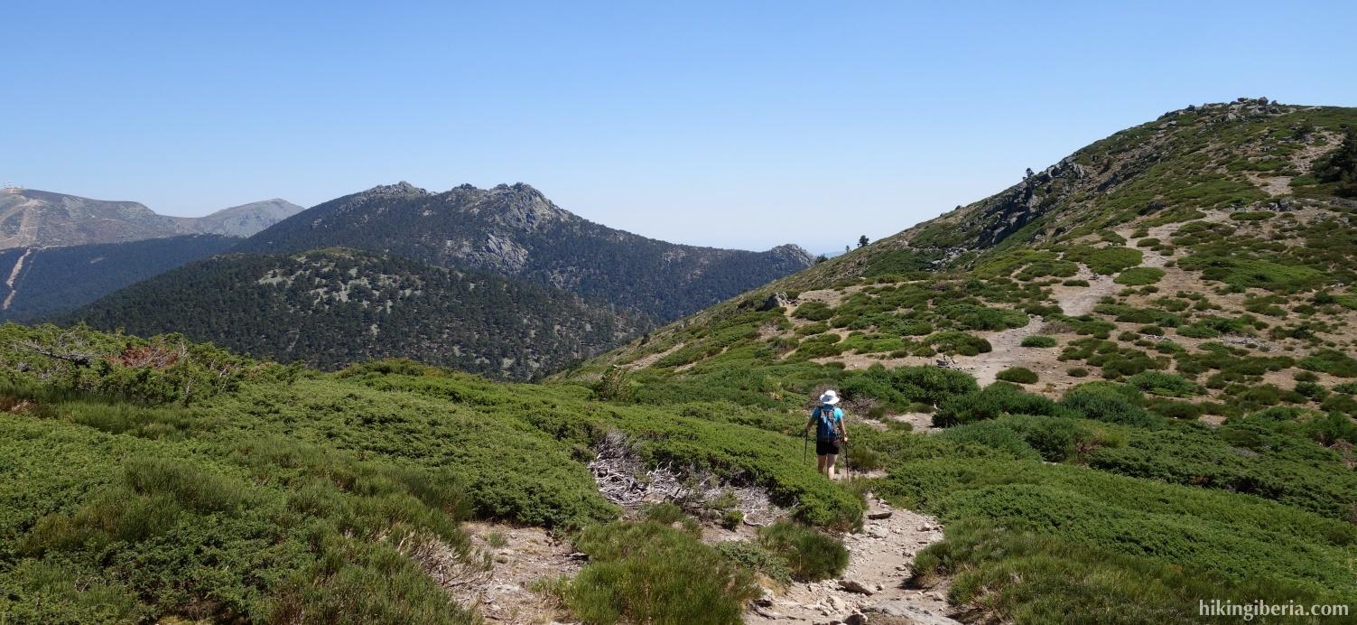 Abstieg vom Montón de Trigo