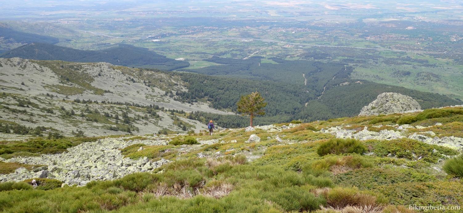 Afdaling vanaf La Pinareja