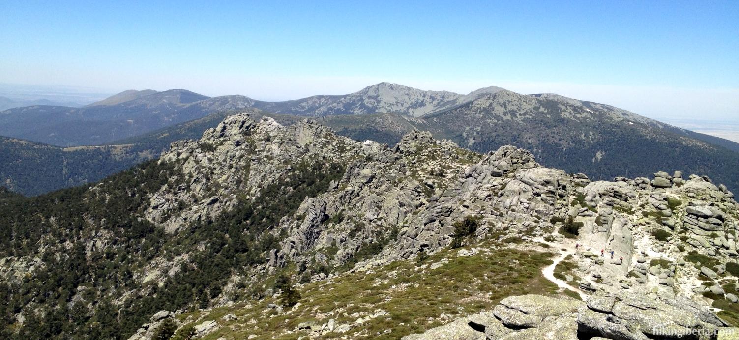Uitzicht vanaf de zevende top