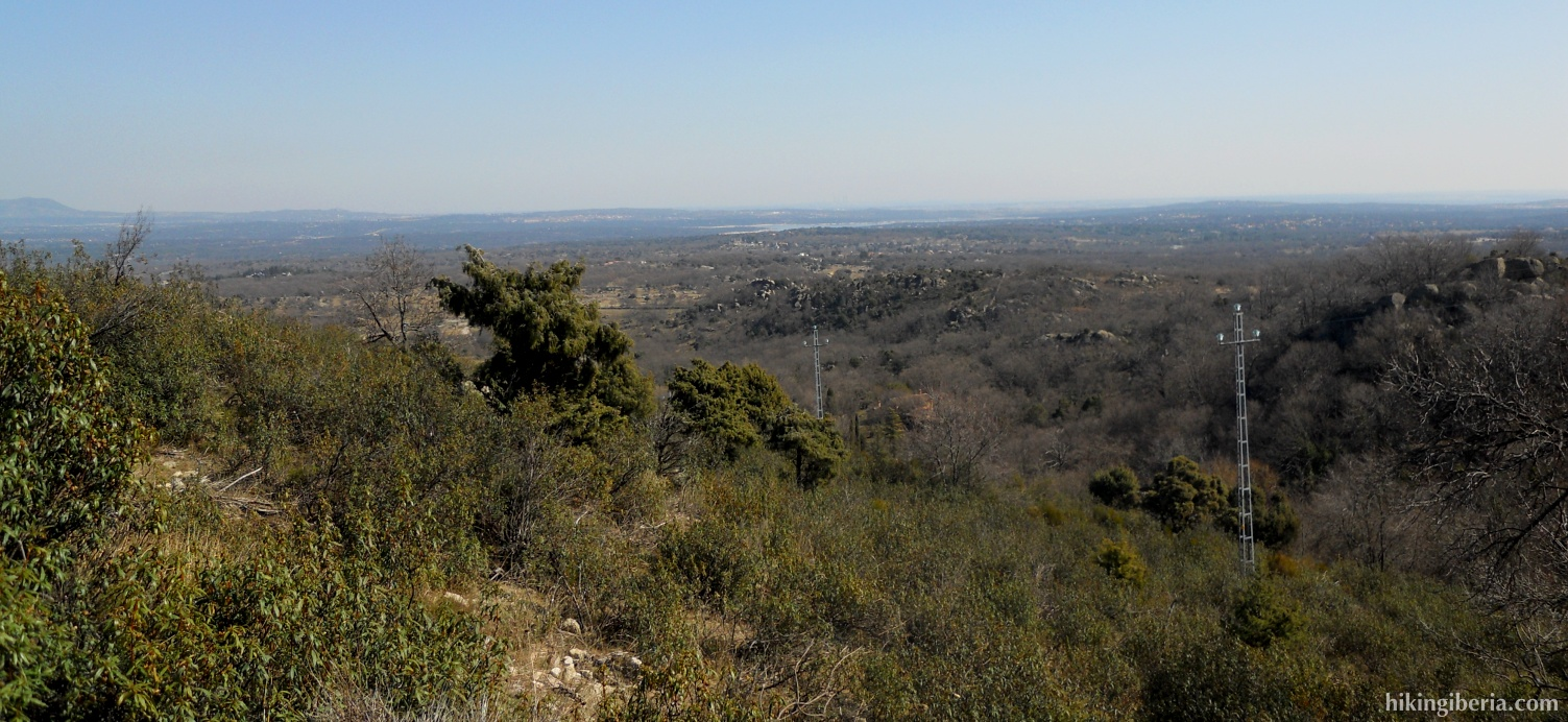 Aussicht in der Nähe der Silla de Felipe II