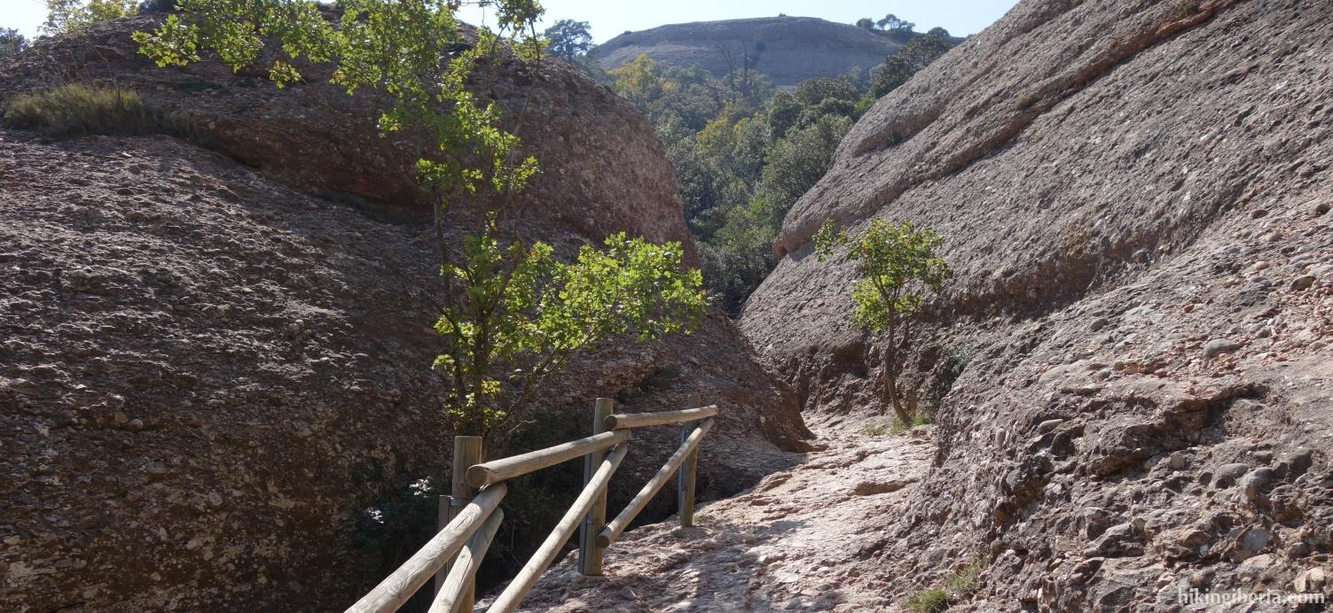 Aufstieg nach Sant Jeroni