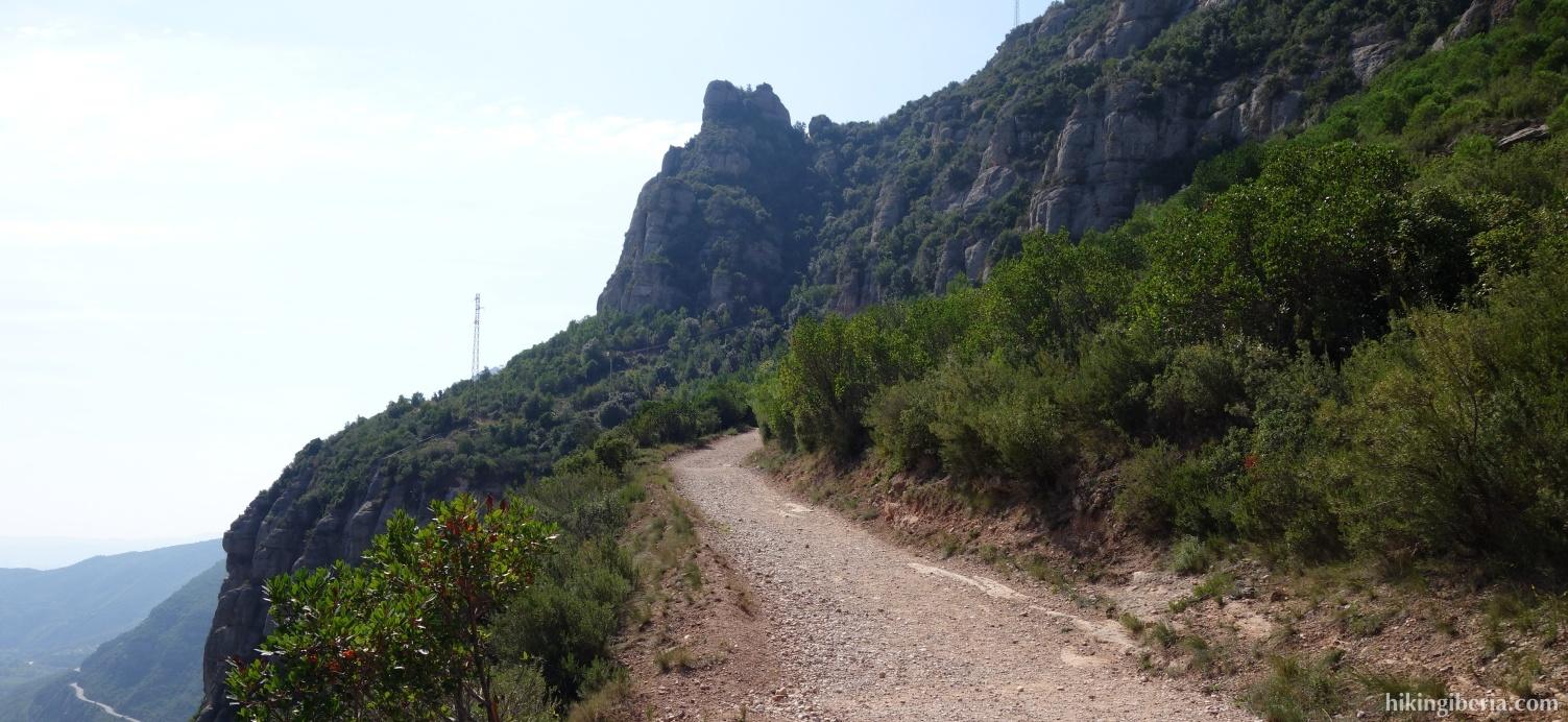 Pad naar het Klooster van Montserrat
