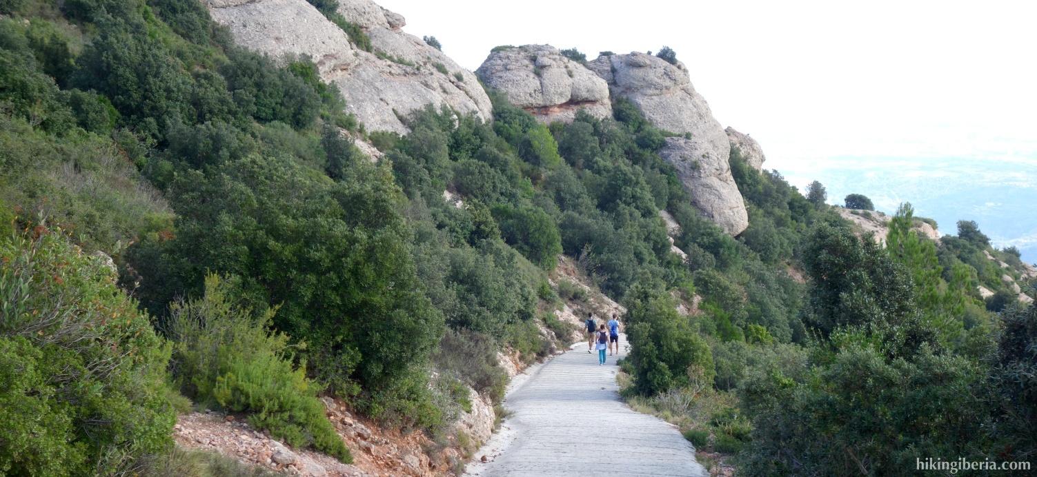 Afdaling vanaf Sant Jeroni
