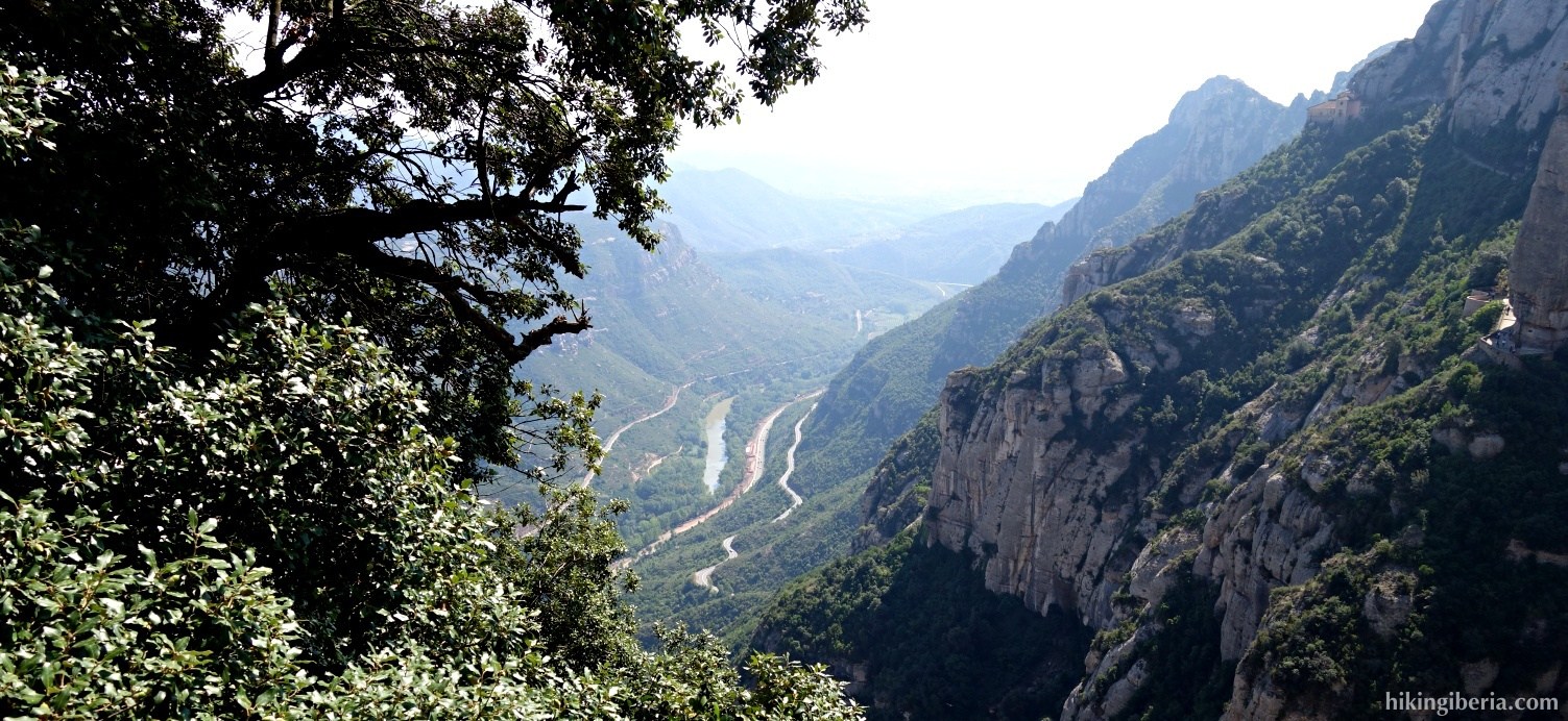 Views on the ascent to the Monastery of Montserrat