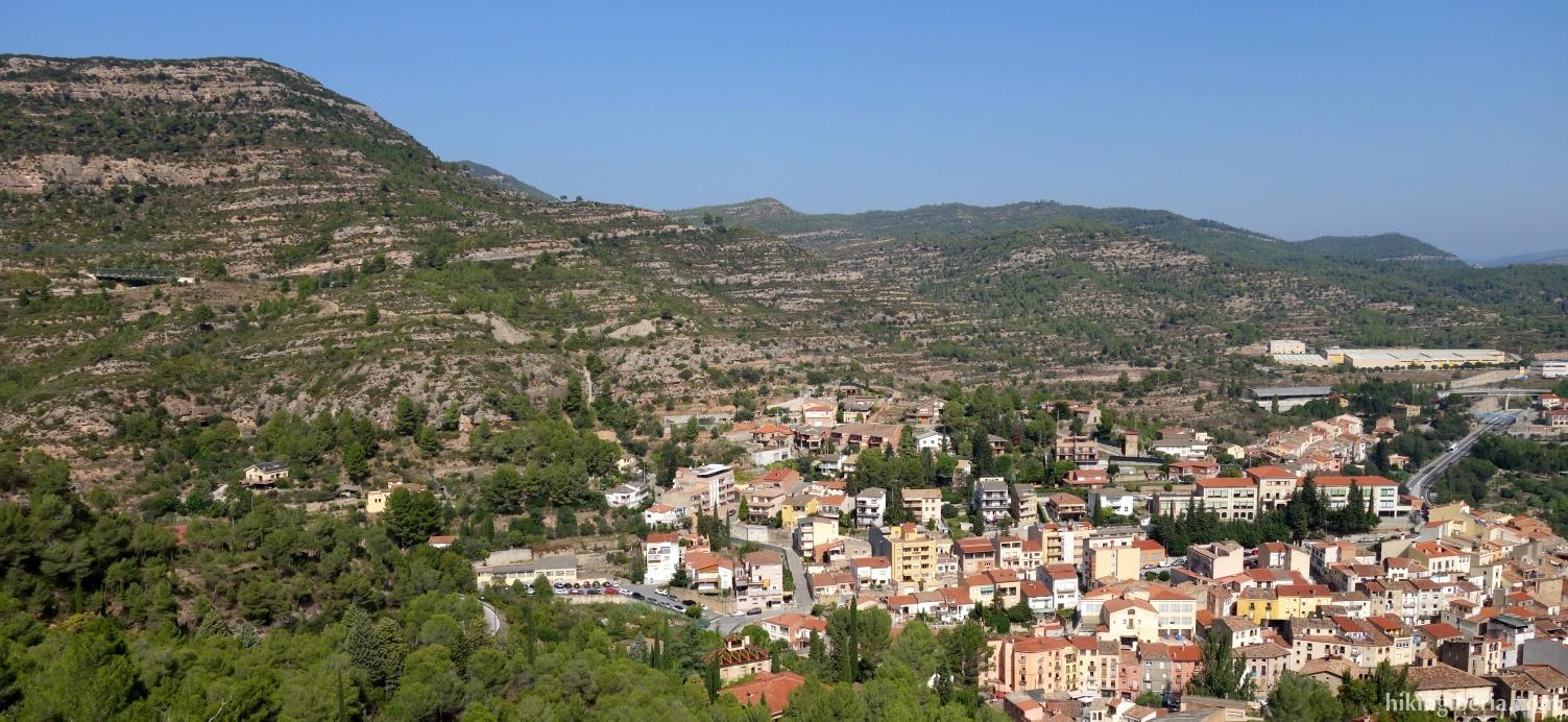 Aussicht auf Monistrol de Montserrat