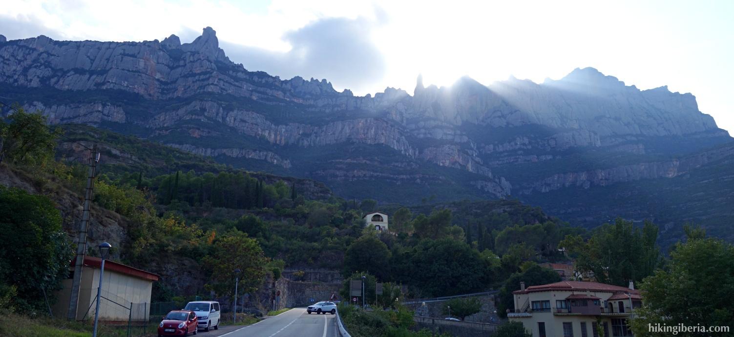 Vista sobre el Montserrat