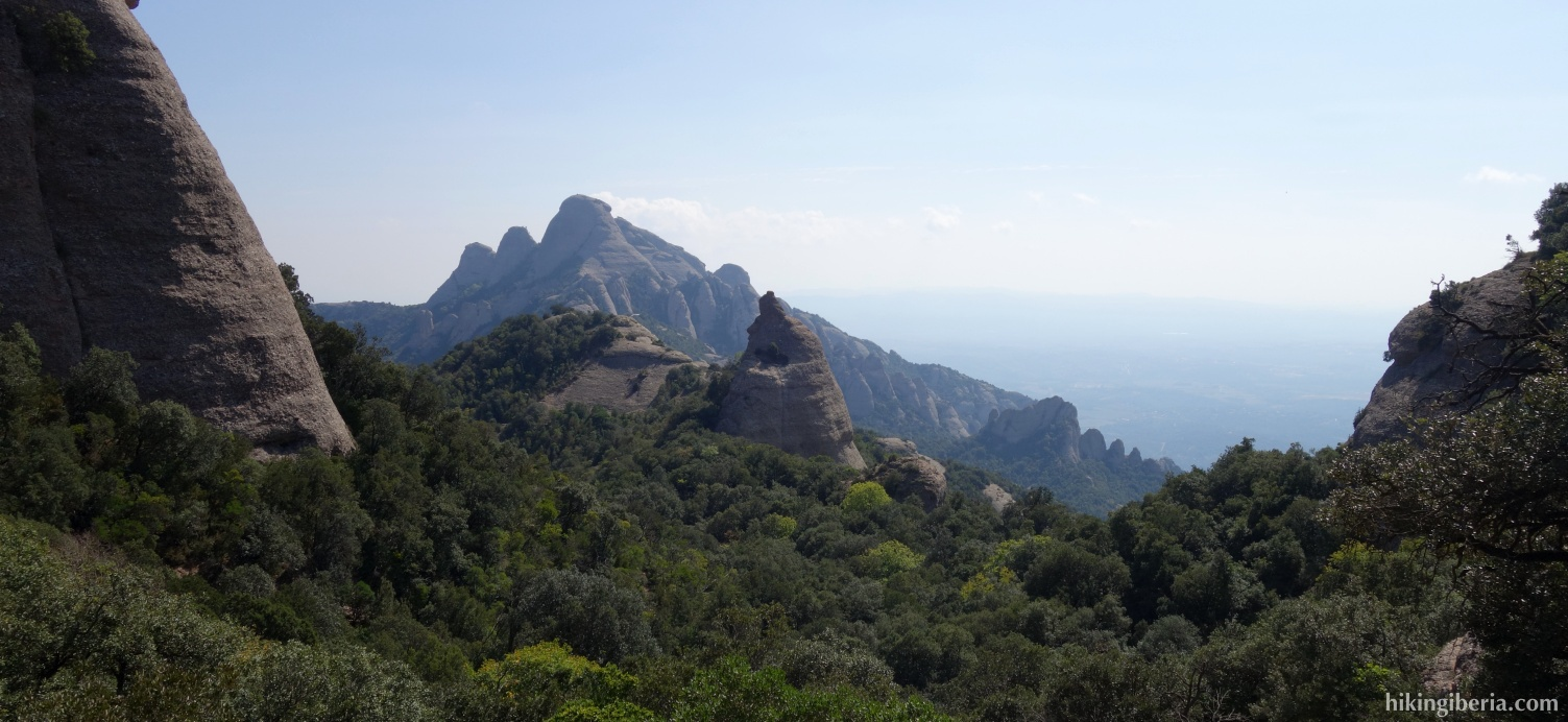 Views on the ascent to Sant Jeroni