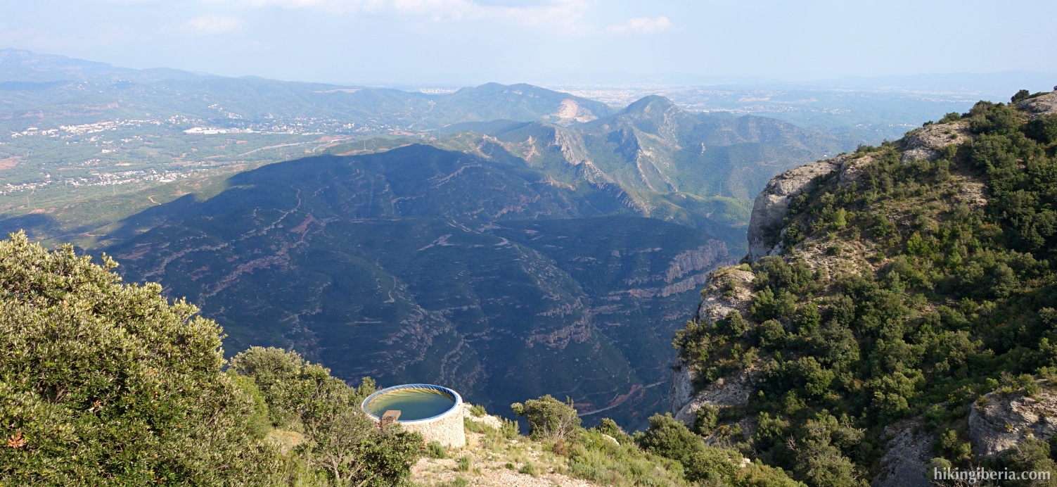 Views on the descent from Sant Jeroni