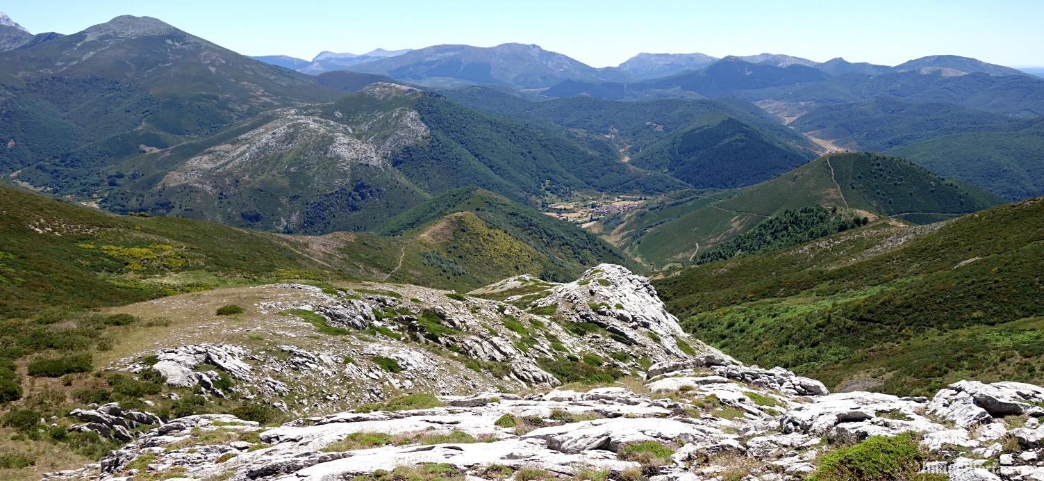 Uitzicht vanaf de Alto del Joverón
