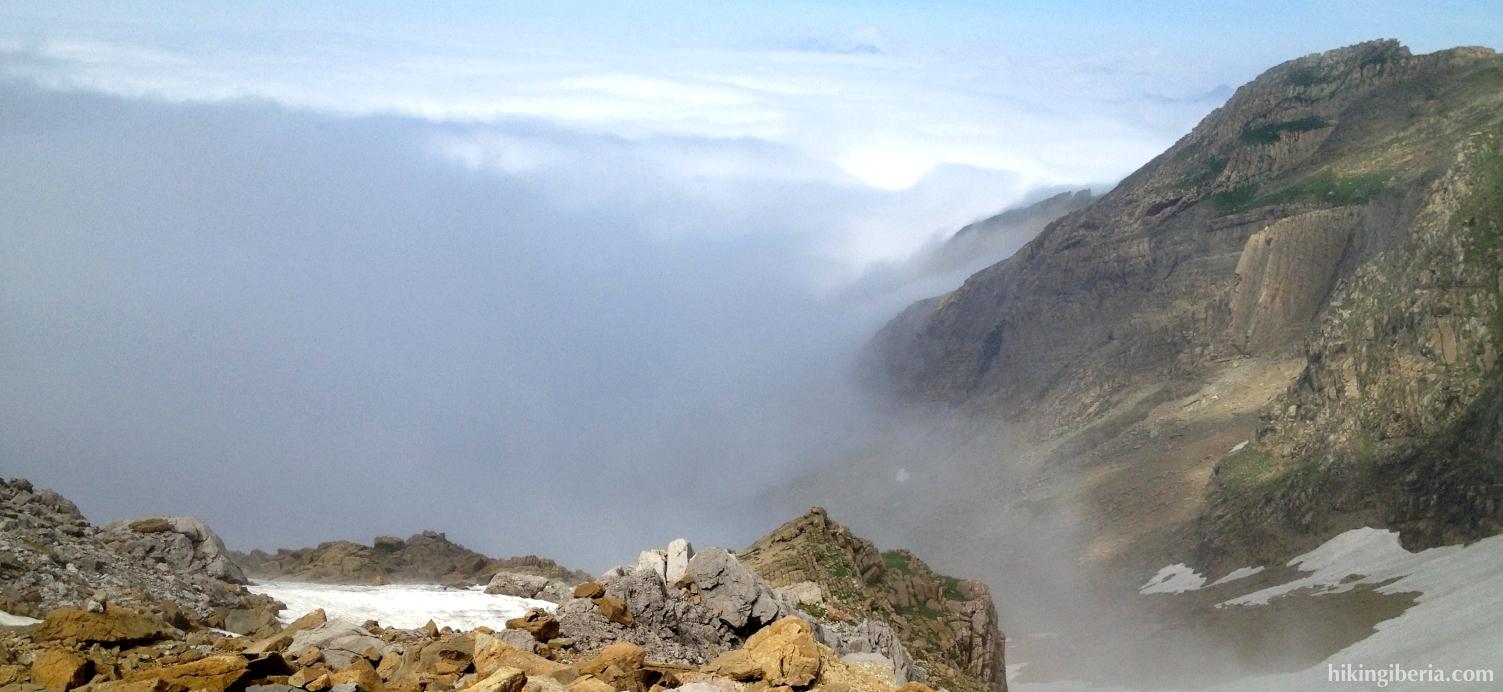 Uitzicht vanaf de Brecha de Aspe