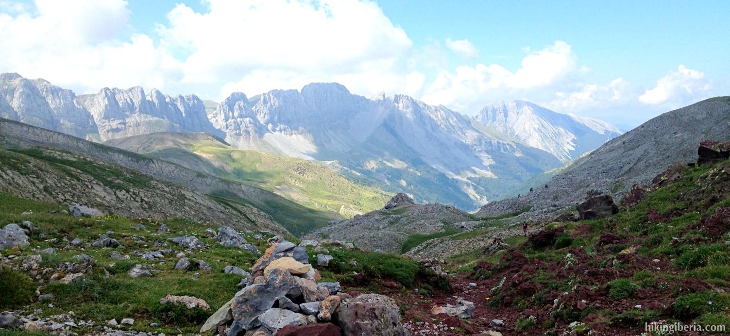 Uitzicht vanaf de Collado de Petrachifa