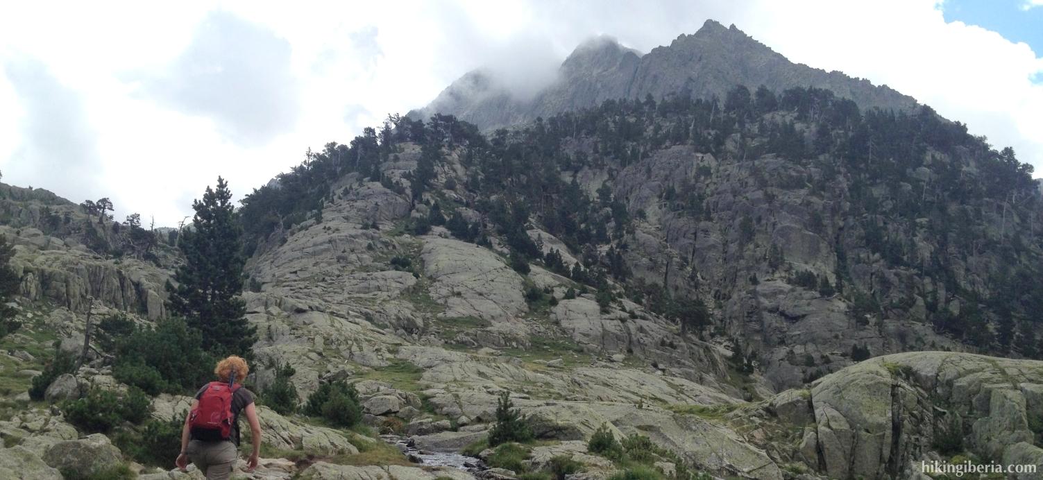 Aufstieg über den Barranco de Les Llastres